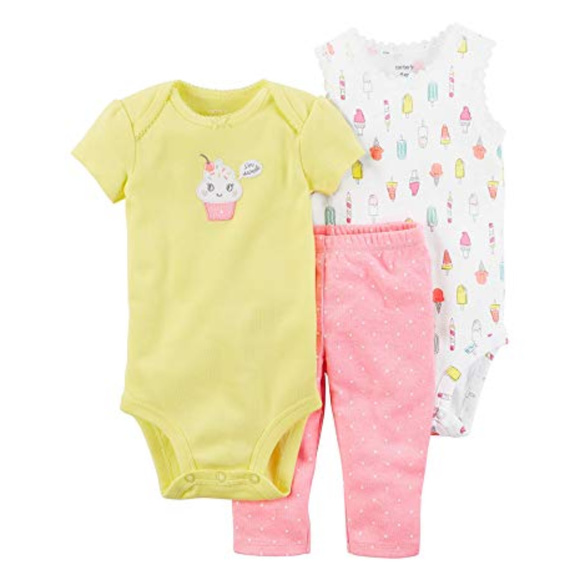 1b27359cd Carter's Matching Sets | New Carters Baby Girl Clothes Bodysuit Pant ...